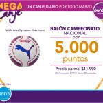 Por solo $5000 puntos cencosud, llevate un Balón de futbol del campeonato  nacional en tiendas PARIS