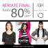 Easton outlet Mall te invita al remate de las tiendas IO-ASH-MA GRIFFE hasta un 80% de descuento