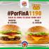Burger King del Mall Arauco Chillan tiene los whopperJR Cheddar Y EL pOLLO JR cHEddAR a $1190