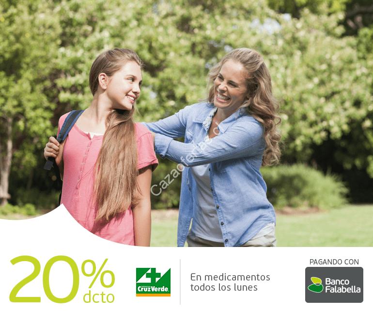 20% de descuento todos los lunes en farmacia Cruz Verde