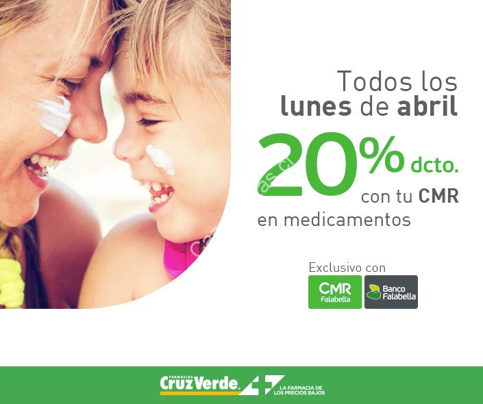 Oferta exclusiva de Farmacia Cruz verde obten un 20% de