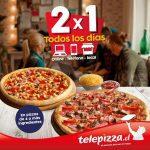 Promoción 2×1 en Telepizza todos los días