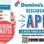 Regalo Domino's Pizza: bebida gratis por pedidos a través de su app