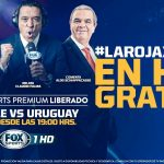 Partido Chile vs Uruguay GRATIS 15 de noviembre por Fox Sports Premium HD liberado