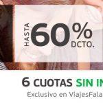 Promoción Viajes Falabella Cyber Monday 2016: Hasta 60% de descuento + 6 cuotas sin interés (extendido)