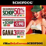 Mes de la cerveza Schopdog: Segundo schop con 50% de descuento y más