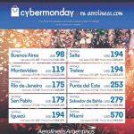 Ofertas Aerolíneas Argentinas Cyber Monday 2016: Vuelos internacionales desde 98 USD