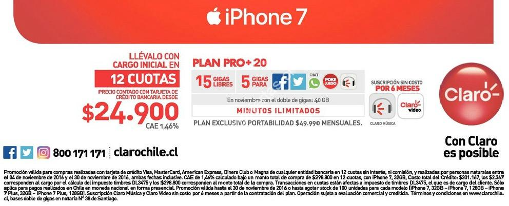 iphone 7 valor chile