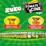 Promoción Zuko y Hoyts Tómate el cine: Canjea 5 sobres por entradas al cine al 2×1 y gana entradas para todo tu curso