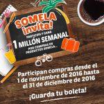 Sorteo Somela Invita 2016: Gana 1 millón semanal por compras en productos Somela