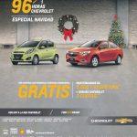 96 horas Chevrolet Especial Navidad 2016: Mantenciones gratis + seguro Chevrolet en 3 cuotas