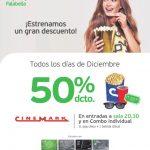 Promoción Cinemark tarjeta Falabella: 50% de descuento en entradas y combo individual durante diciembre