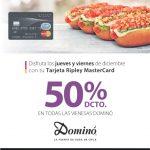 Promoción tarjeta Ripley Dominó: 50% de descuento en todas las vienesas los jueves y viernes de diciembre