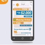 Promoción Entel prepago: Whatsapp ilimitado por 15 días en recargas desde $2.000