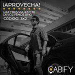 Código Cabify Chile de 3×2 en viajes