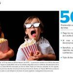 Promoción BBVA: 50% de descuento en todos los cines del país los martes y miércoles