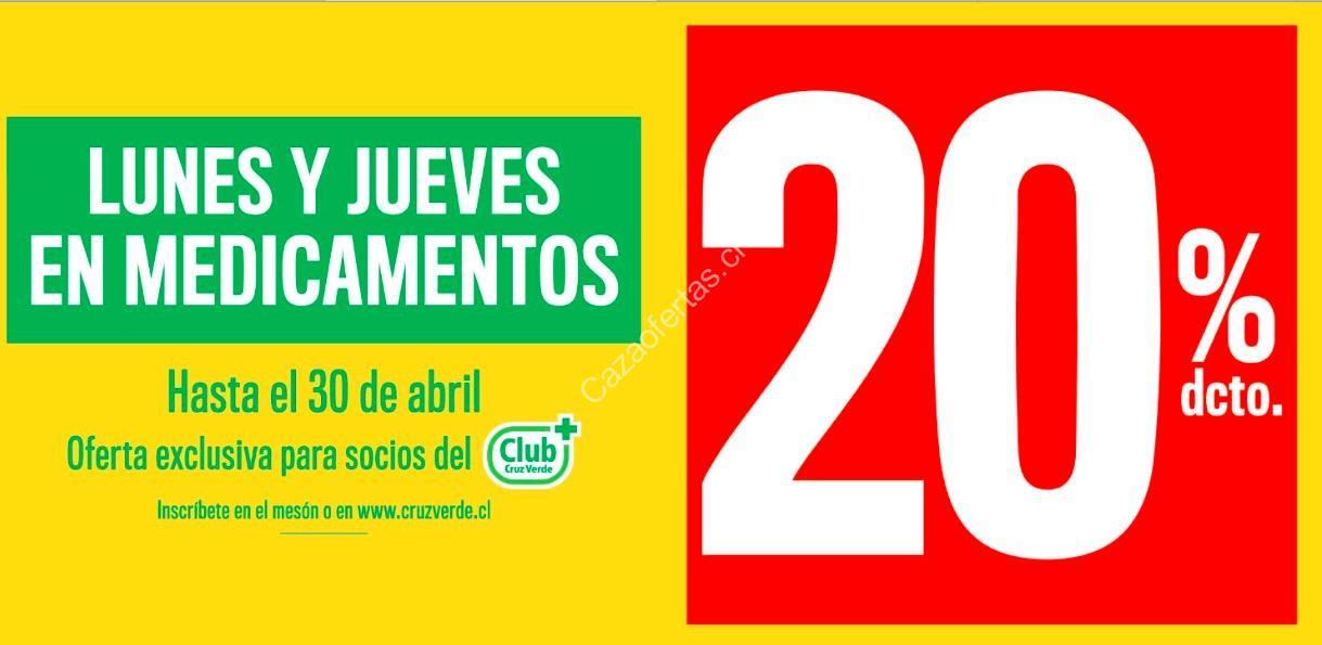 En Cruz Verde 20% de descuento los lunes y jueves de marzo