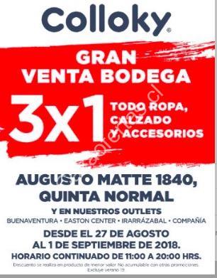 Imagen de la promo  Gran venta de bodega Colloky  3x1 en todo ropa 8ff0f99244c13