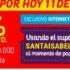 Cupón Santa Isabel 7% de descuento hoy 11 de mayo
