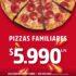 Promoción Telepizza TeleWow: Pizzas familiares a $5.990