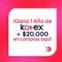 Concurso Bazar Kotex: Gana un año de Kotex + $20.000 en productos